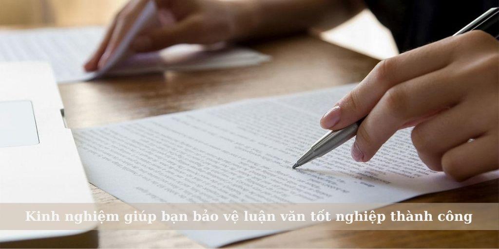 kinh nghiệm giúp bạn bảo vệ luận văn tốt nghiệp thành công