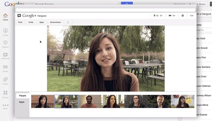 Công cụ học trực tuyến - Google Hangout